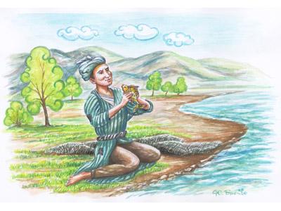 юный рыбак стихи